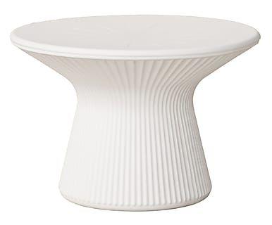 Tavolino balcone ~ Tavolino luminoso in acrilico bianco acapulco cm