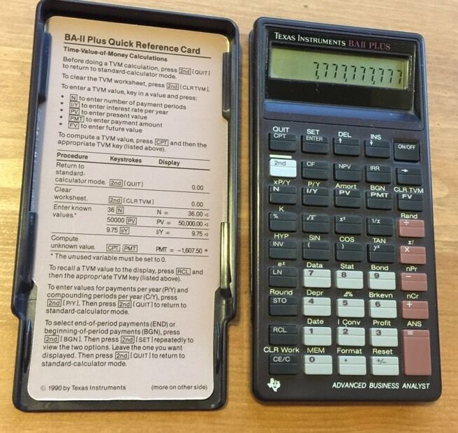 VTG Texas Instruments BA II PLUS Advanced Business Analyst - financial calculator