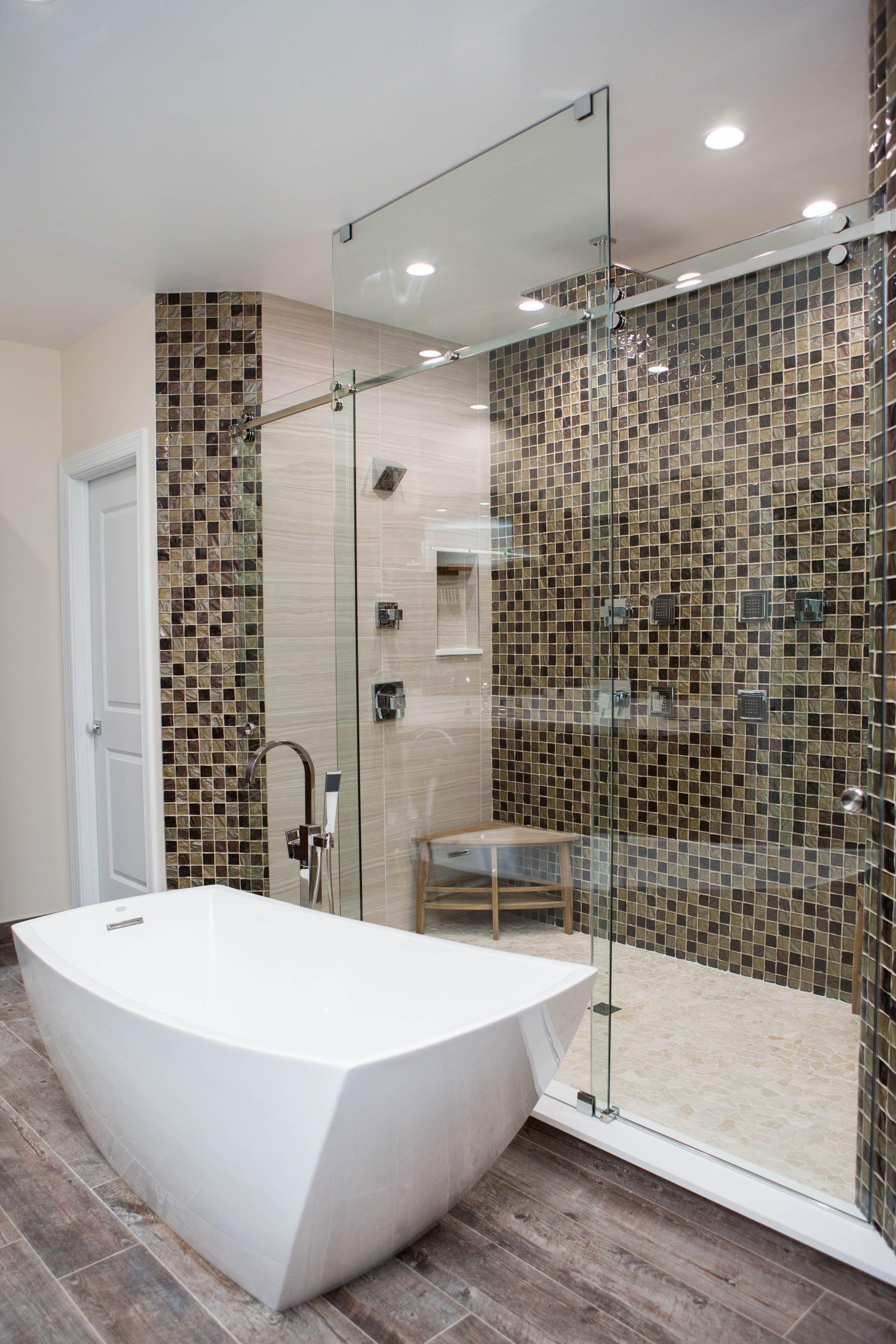 A Custom Inline Double Serenity Shower Doors Frameless Shower