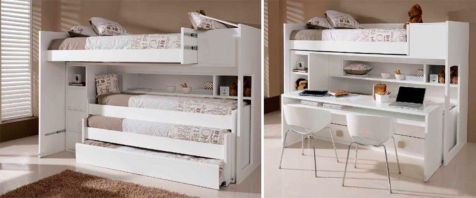 Literas convertibles para dos o para tres - El mueble habitaciones juveniles ...