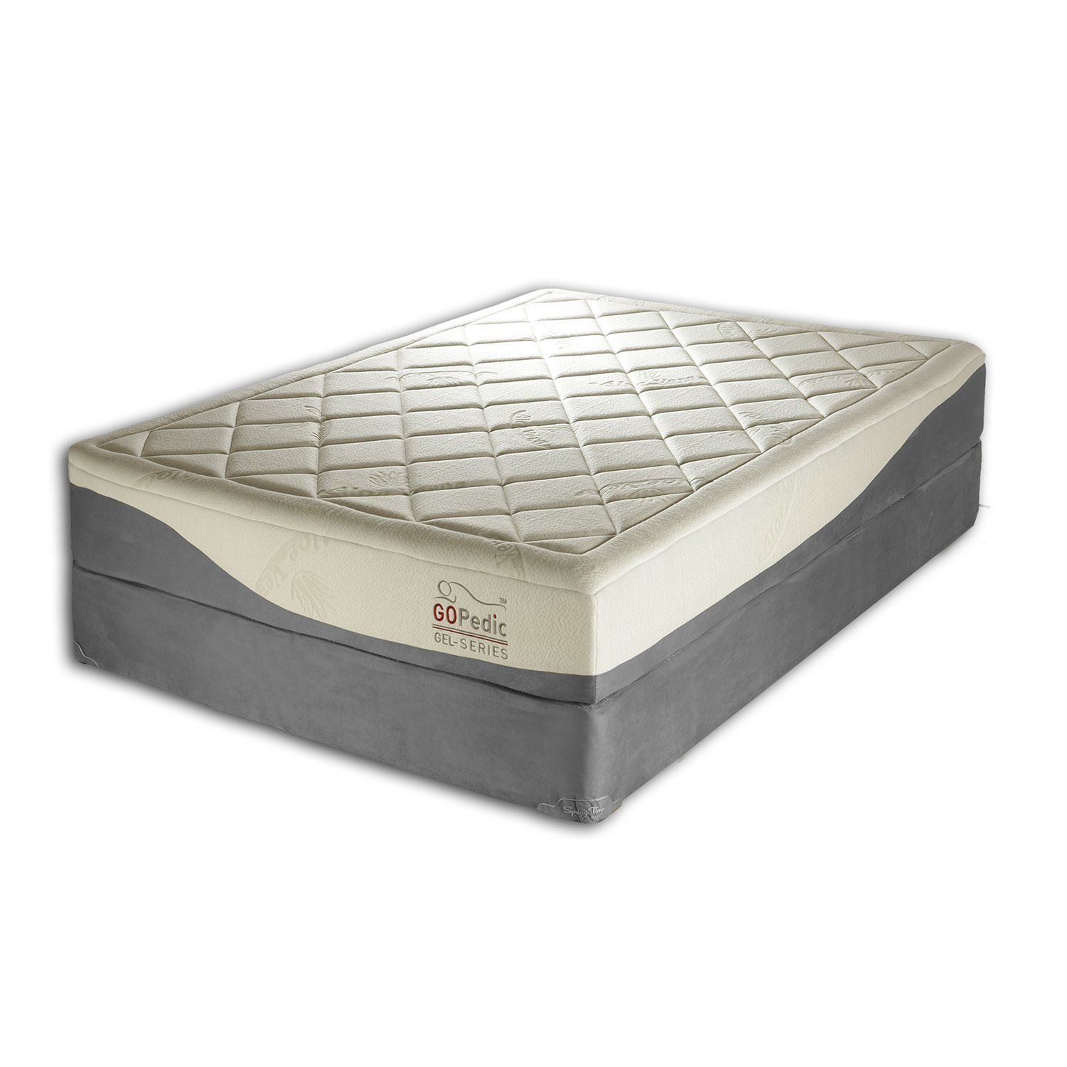 Go Pedic 10 Inch Gel Infused Memory Foam Mattress Full New And Awesome Product Awaits You Rea Memory Foam Mattress Gel Memory Foam Mattress Foam Mattress
