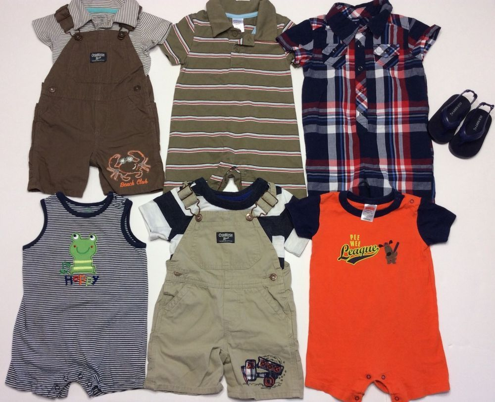 f908f691f Baby Boy 12 MO One Two Piece Outfits Romper Summer Clothes Lot ...