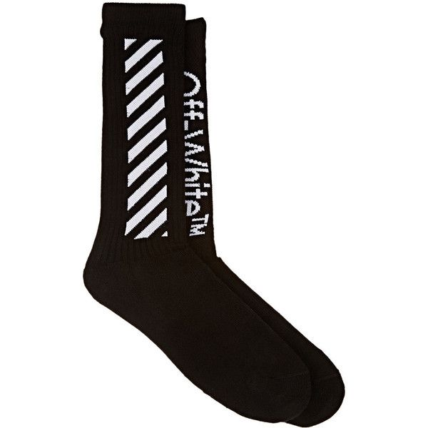 deb6468c3bbd Off-White c o Virgil Abloh Men s Diagonal-Striped Cotton Mid-Calf... ( 80)  ❤ liked on Polyvore featuring men s fashion