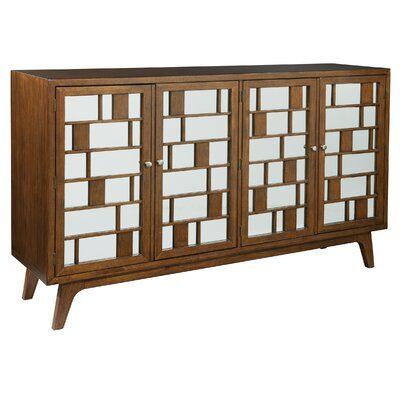 """Hekman Mid Century Walnut TV Stand for TVs up to 78"""" 