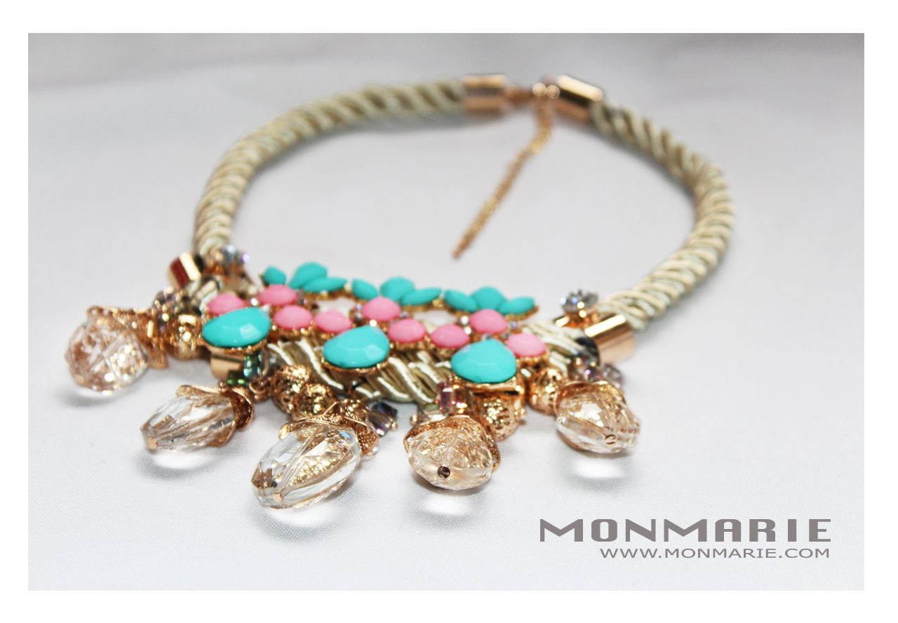 Rope Chunky Colorful Necklaces $25 ONLY AT www.monmarie.com http://www.monmarie.com/collections/accessories/products/rope-chunky-colorful-necklaces-1