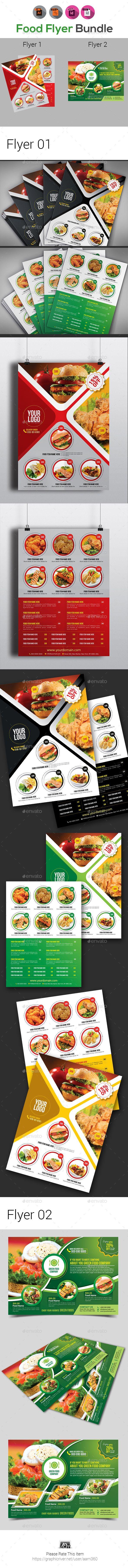 Food Menu Or Food Flyer Bundle  Food Menu Ai Illustrator And
