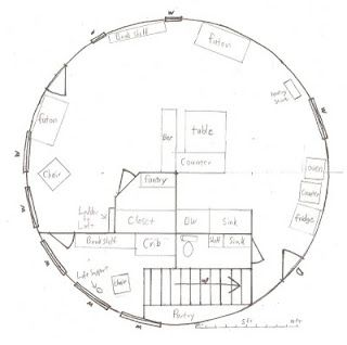 The schneiders an alaskan yurt family yurt floor plans for Yurt home plans