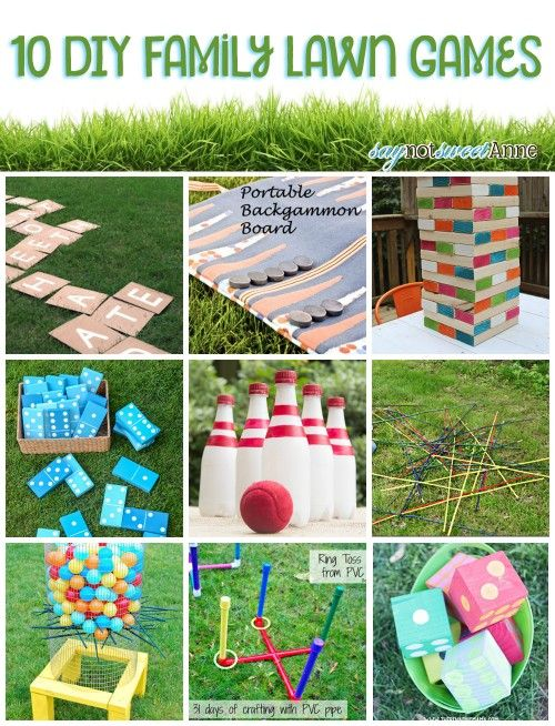 10 DIY Family Lawn Games is part of lawn Games Children - It is Memorial Day Weekend and you know what that means! Summertime is here! If you feel anything like I do, you spent way too much time indoors this winter and are looking forward to some time outside over the next few months  I am jazzed for backyard barbecuing, for porchswing lounging, and for walksRead more