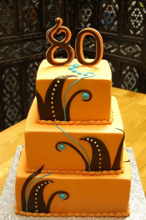 Elegant 80th Birthday Cakes Men