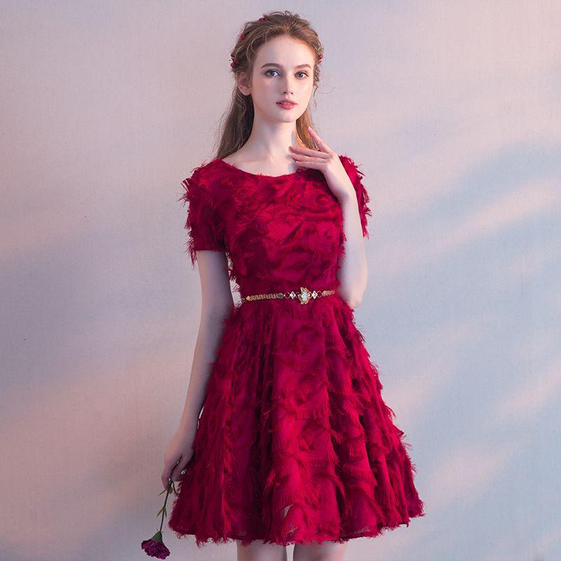 660739a3e4f Вечерние платья Банкетный вечернее платье для лета 2018 года новый студент  короткий