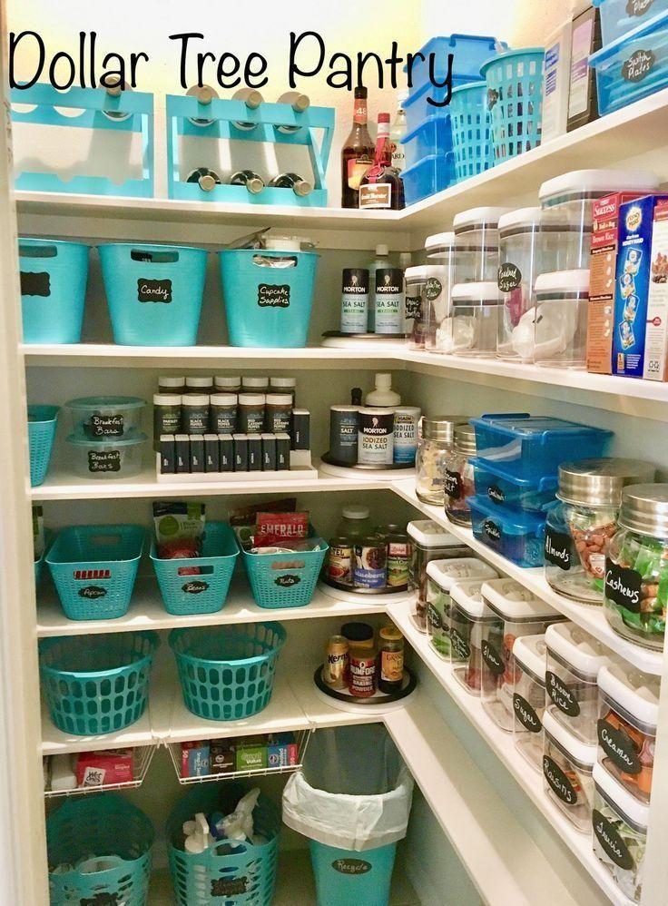 185 Farmhouse Pantry Before After Organization - #pantryorganization