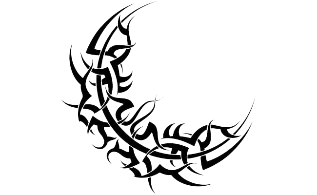 Star Tattoos Png Transparent Images Png All Tribal Moon Tattoo Tribal Tattoos Star Tattoos