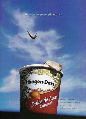 exaggeration dive haagen dazs pure pleasure pool ice cream ad exaggeration dive haagen dazs pure pleasure pool 2002 ice cream ad dairy dairy advertising design and art direction