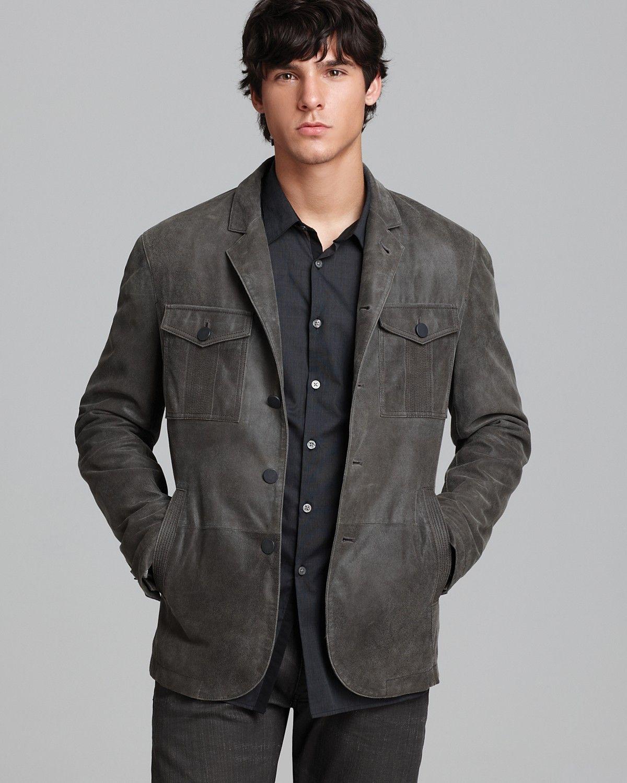 838aaadb7 John Varvatos USA Suede Military Jacket | Bloomingdale's | Men's ...