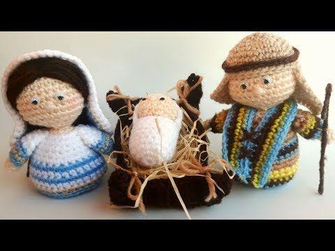 Amigurumi Zeitschrift 2016 : Presepe amigurumi tutorial giuseppe parte 1 nativity crochet