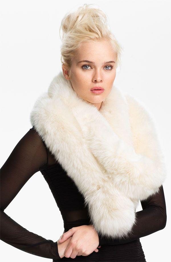 Rachel Zoe fox fur scarf.