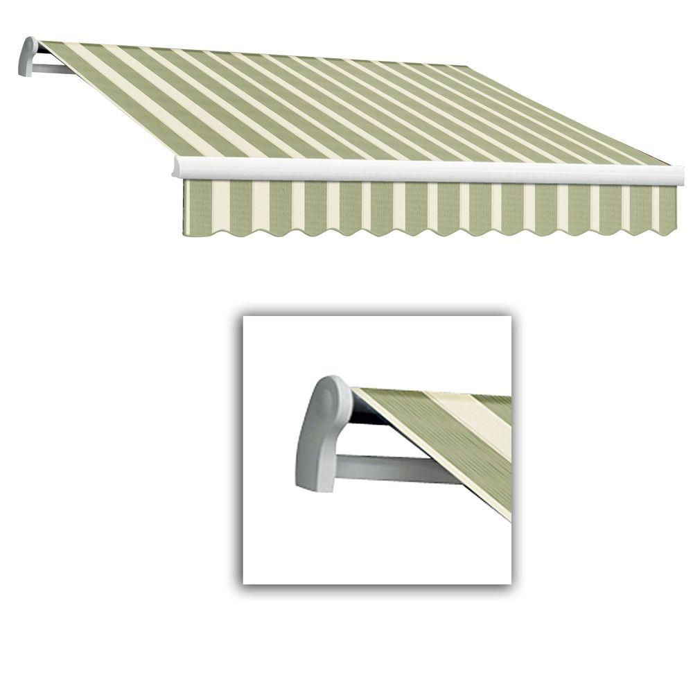 Awntech 16 Ft Lx Maui Manual Retractable Acrylic Awning 120 In Projection In Retractable Awning Awning Fabric Awning