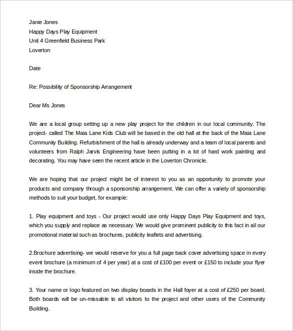 Fundraising Letter Template Free Word Pdf Documents Download How
