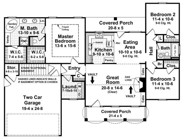 House Plan 348 00026 Ranch Plan 1 509 Square Feet 3 Bedrooms 2 Bathrooms In 2021 Cottage House Plans Craftsman Style House Plans Bungalow Floor Plans