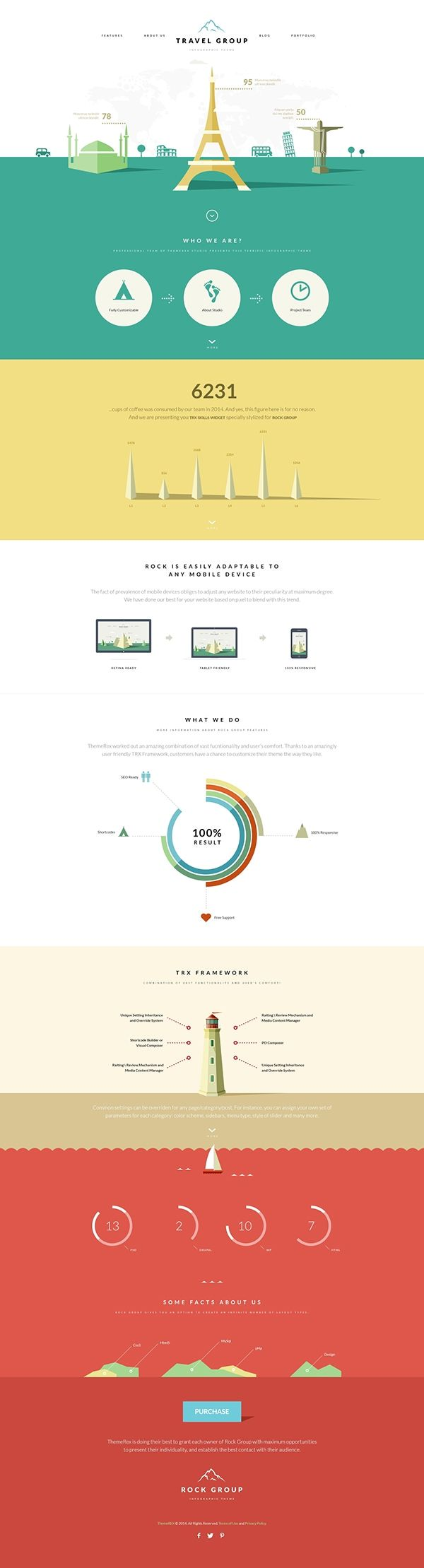 rock group multipurpose infographic theme color blocking an interesting infographic simple and modern good job a project by