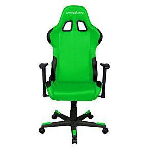 Dxracer Oh Fd99 En High Back Ergonomic Computer Desk Chair Pu Black Green Chair Gaming Chair Green Chair