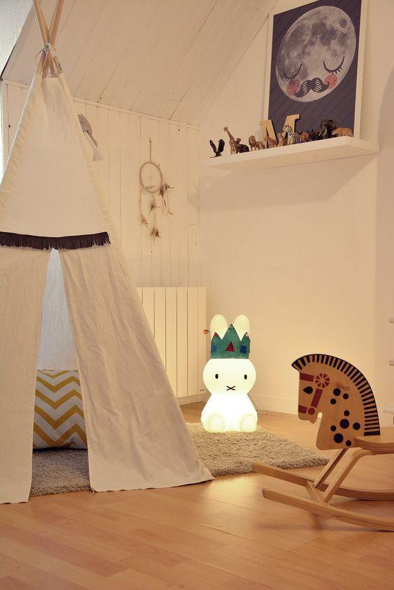 tipi pour une chambre d 39 enfant inspiration blog d co clematc chambre de b b nursery. Black Bedroom Furniture Sets. Home Design Ideas