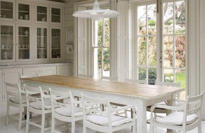 Cocina integrada - decoracion en blanco cálido | Decorar tu casa es facilisimo.com
