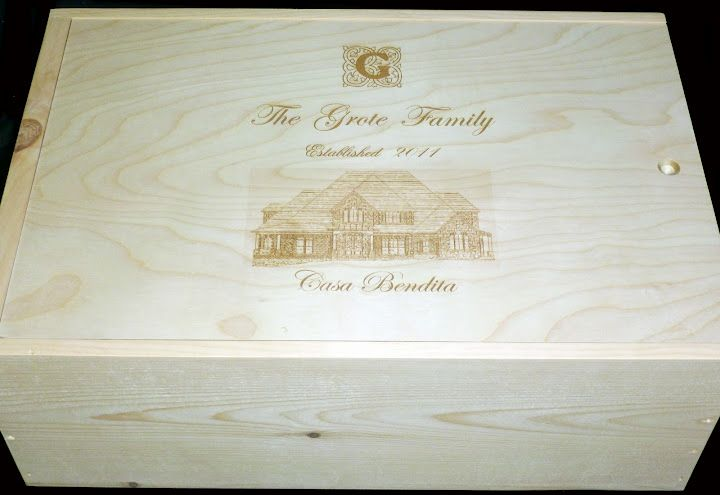 Grote Family Custom 12 Bottle Slide Top Wine Crate Wooden Wine Crates Wine Crate Custom Wine