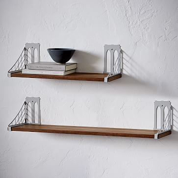 Mid Century Modern Wall Mounted Shelving System Mid Century