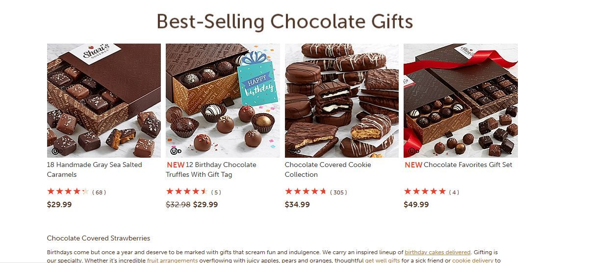 Shari S Berries 30 Off 25 Off Sharisberriessaleproducts Chocolate Covered Cookies Favorite Things Gift Caramel Truffle