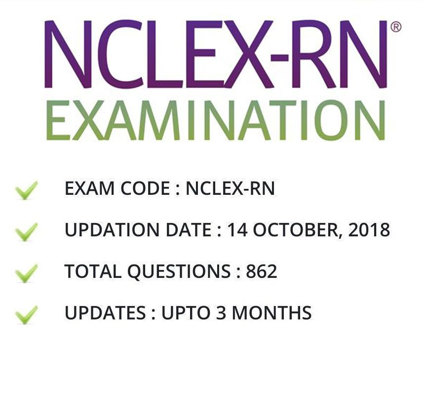 Nclex rn actual exam test bank of real questions & answers nclex