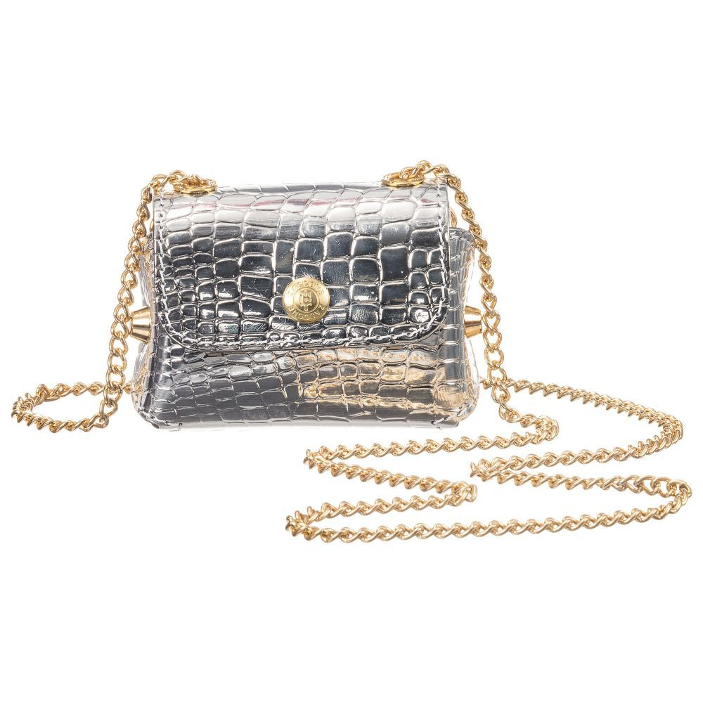 f59e0c31579 Silver Mini Handbag (8cm) in 2019 | Bags | Mini handbags, Girls bags ...