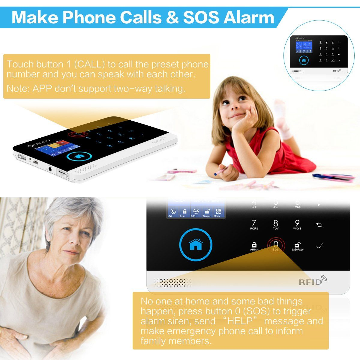 Digoo wireless 2g home and business security alarm system