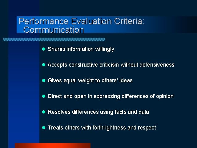 Performance Evaluation Criteria Business Comm Pinterest Social