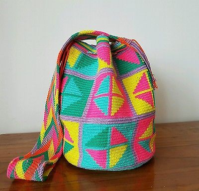 Patterned Wayuu mochila bag ~ handmade bag from Colombia ~ perfect beach bag!