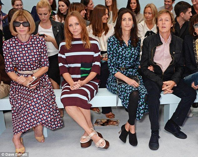 Anna Wintour Stella McCartney Nancy Shevell Paul