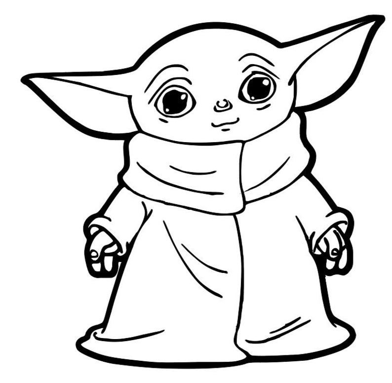 Baby Yoda Car Decal Sticker Yoda Art Yoda Drawing Yoda Decals