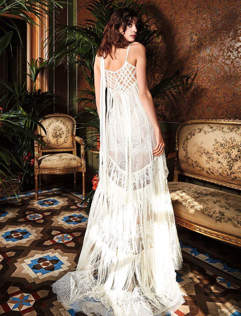 Yolancris narciso wedding dress boho chic bride a piece of true
