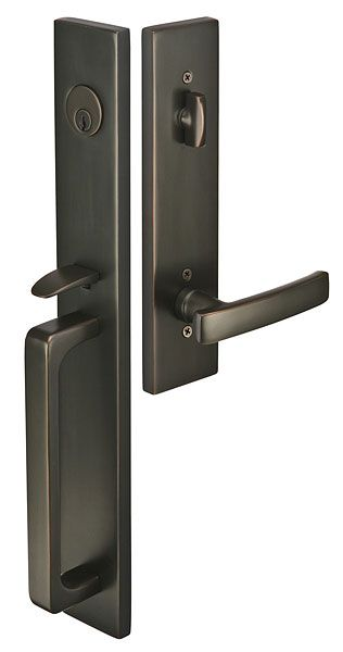 Lausanne | Contemporary Lock Sets | Tubular Entry Sets | Emtek Products,  Inc. With Brighton Trim And Cimmaron Lever
