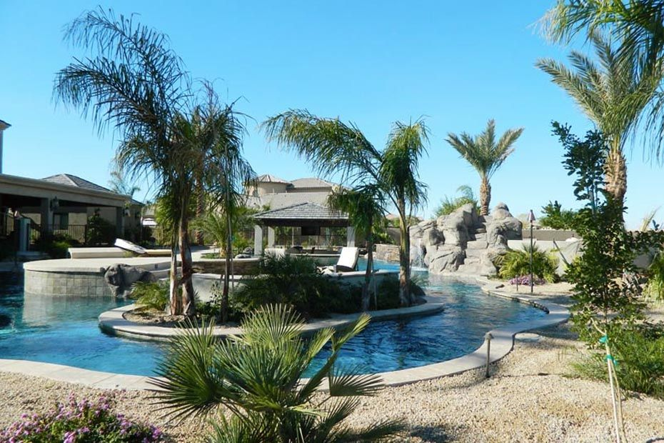 Lazy River Pool In Yuma Az Resort Style Pool Dream Patio Backyard Pool