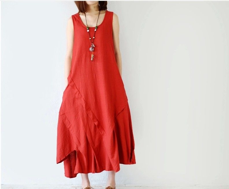 New 2015 Summer Style Desigual Retro Dress Women Loose Vintage Linen Dress Women Long Maxi Vestidos Female Causal Club Dresses