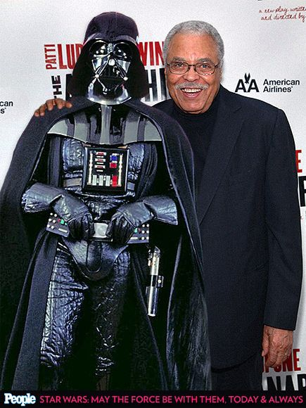 Darth Vader and James Earl Jones, the guy that does the ...James Earl Jones Darth Vader Family Guy