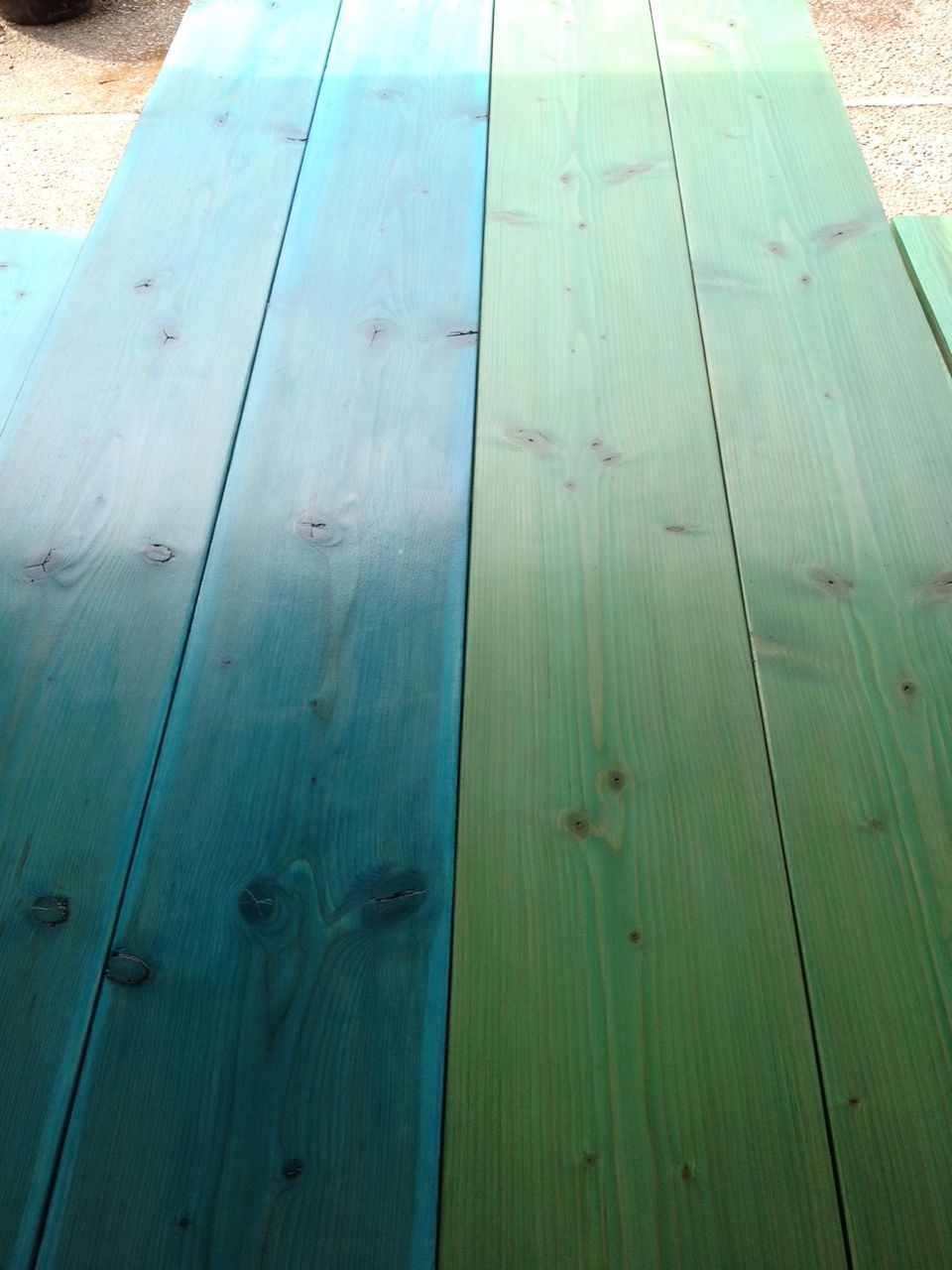 Outdoor Patio Table Mixol Green Amp Blue In Helmsman