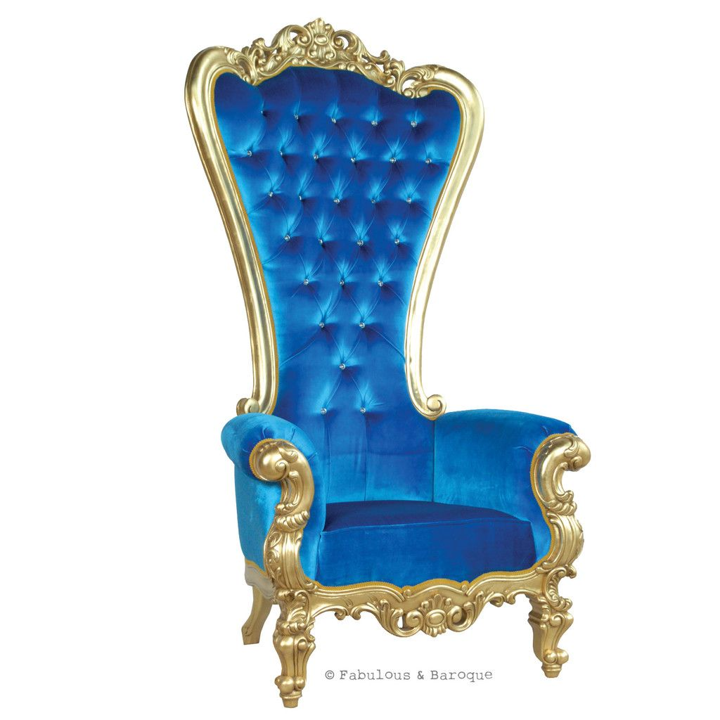 Royal Blue Velvet Chairs Tub Chair Lift Gryphon Reine Gold And Thrones