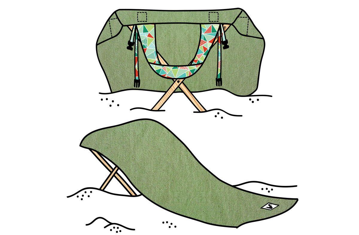 """Regalador.com - Origama """"Sun Seat"""": la toalla-tumbona más original y práctica"""