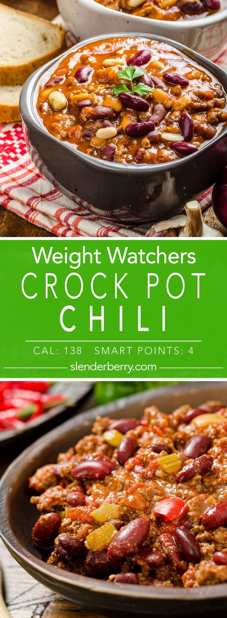 Crock Pot Beef Chili #chilirecipe