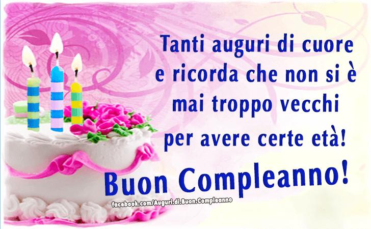 Populaire Auguri | auguri compleanno | Pinterest | Buon compleanno  QF19