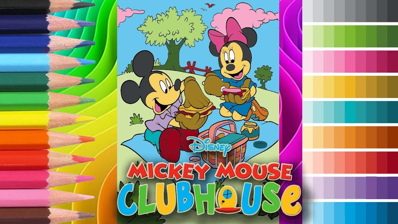 Coloring Mickey Mouse Clubhouse Coloring Page Crayons | COLORING ...
