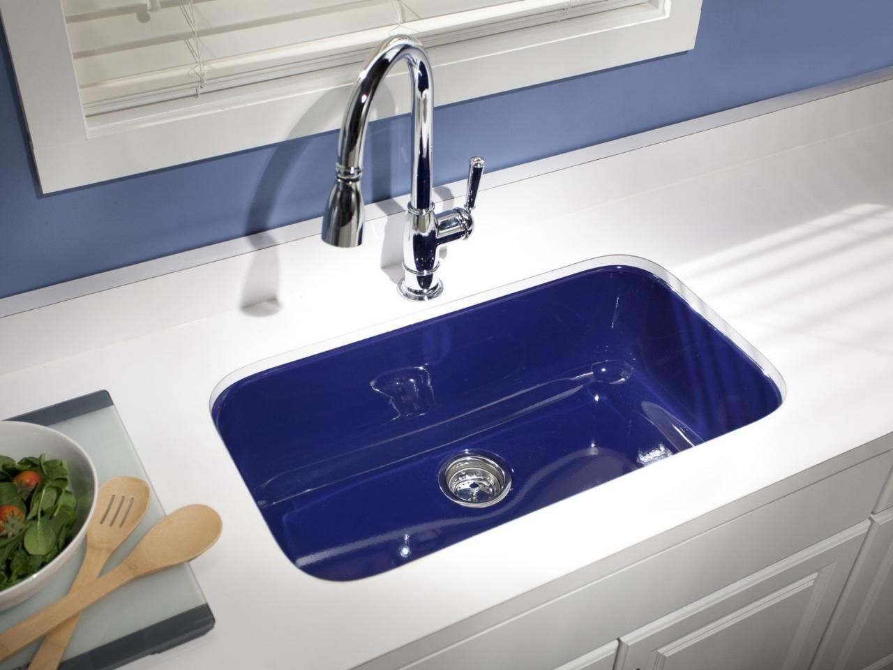 15 Easy Ways to Add Color to Your Kitchen | Fireclay sink, Sinks ...