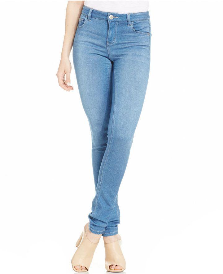 7d6580f9d546cd Celebrity Pink Jeans Juniors' Super-Soft Skinny Jeans, Indigo Light Wash